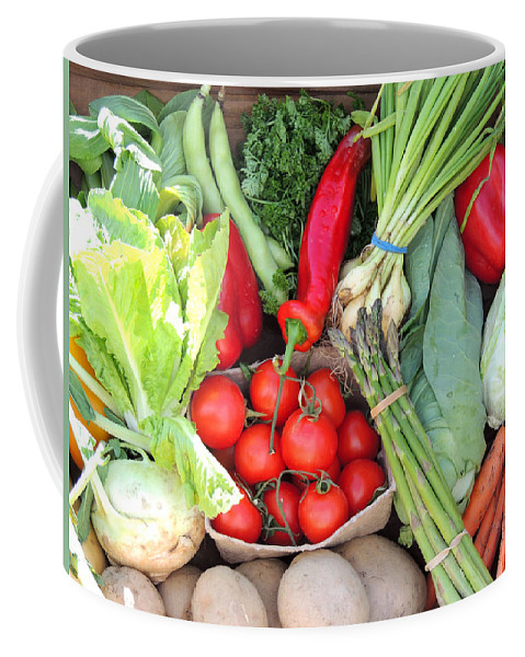 Coffee Mug featuring the photograph Veg At Market Wendover Uk by Marilyn Holkham