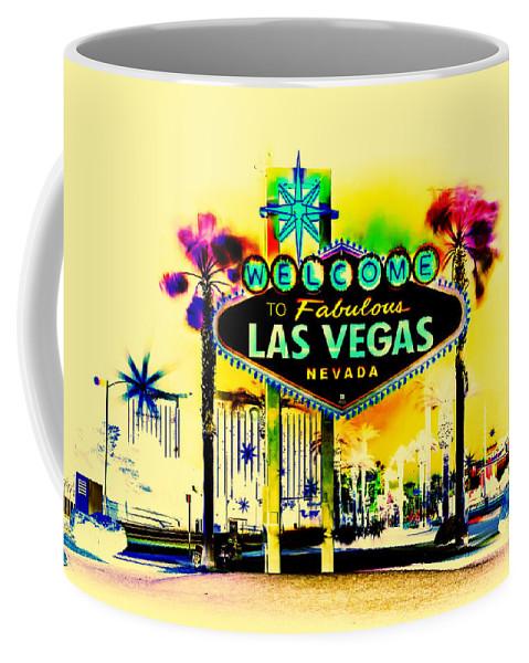 Las Vegas Coffee Mug featuring the digital art Vegas Weekends by Az Jackson