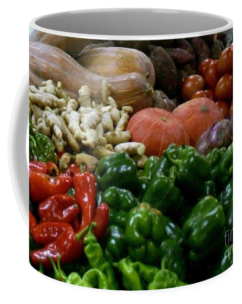 Vegetables Coffee Mug featuring the photograph Vegetables In Chinese Market by Barbie Corbett-Newmin