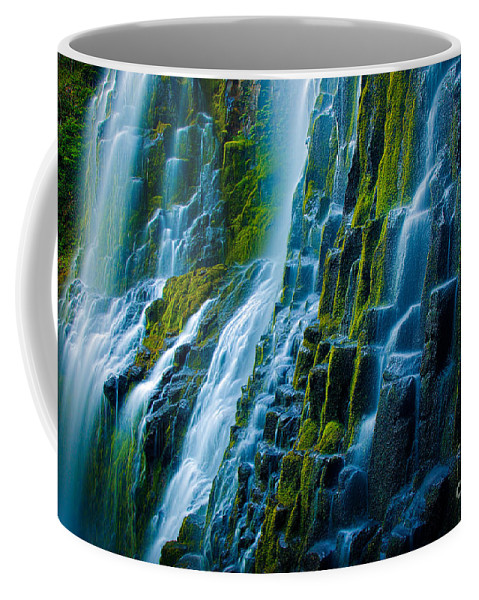 America Coffee Mug featuring the photograph Veiled Wall by Inge Johnsson