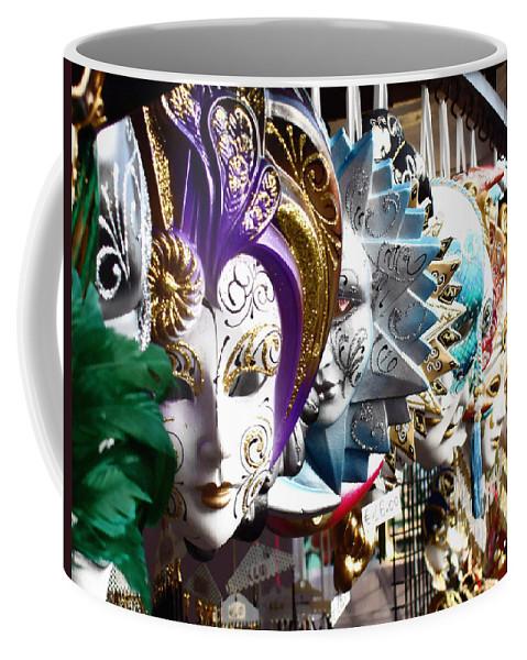 Venetian Masks Coffee Mug featuring the photograph Venetian Masks 1 by Ellen Henneke