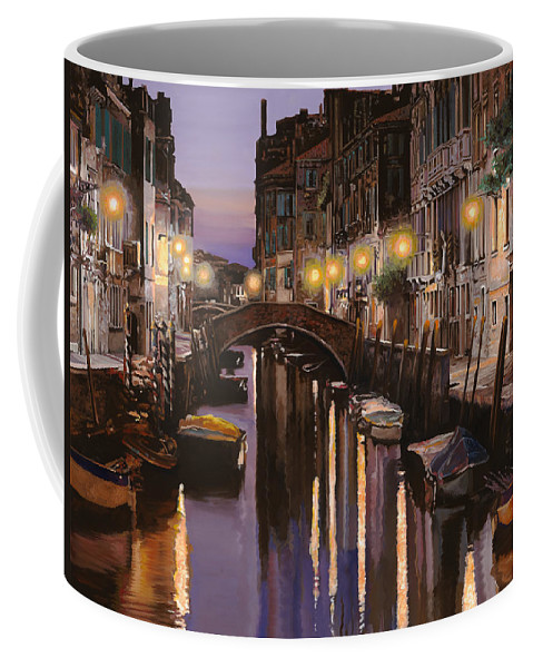 Venice Coffee Mug featuring the painting Venezia Al Crepuscolo by Guido Borelli