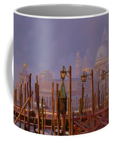 Venice Coffee Mug featuring the painting Venezia E La Nebbia by Guido Borelli