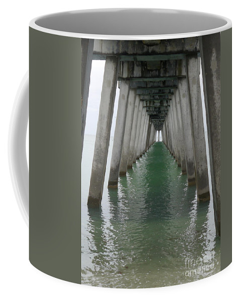 Architecture Coffee Mug featuring the photograph Venice Beach Pier Structure by Christiane Schulze Art And Photography