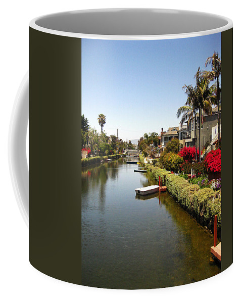 Venice Canals Coffee Mug featuring the photograph Venice Canal 1 by Rosie McCobb