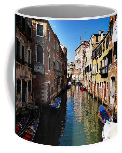 Venice Coffee Mug featuring the photograph Venice Canal by Bill Cannon