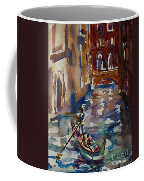 Venice Impression Coffee Mug featuring the painting Venice Impression V by Xueling Zou