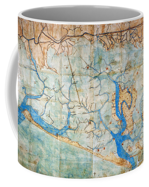 1546 Coffee Mug featuring the photograph Venice: Map, 1546 by Granger