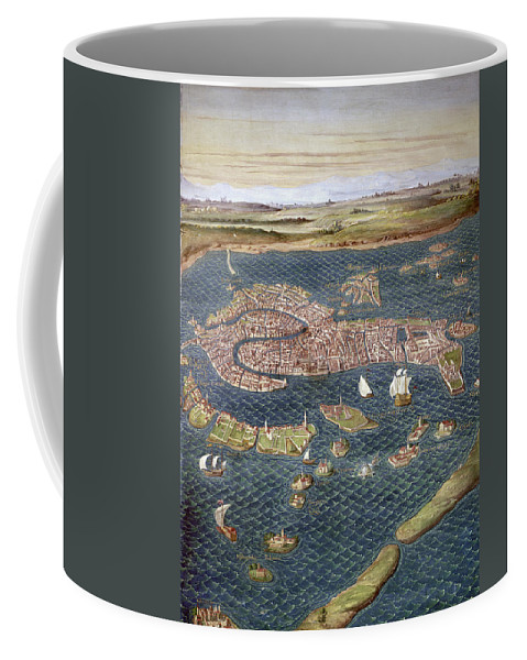 16th Century Coffee Mug featuring the photograph Venice: Map, 16th Century by Granger