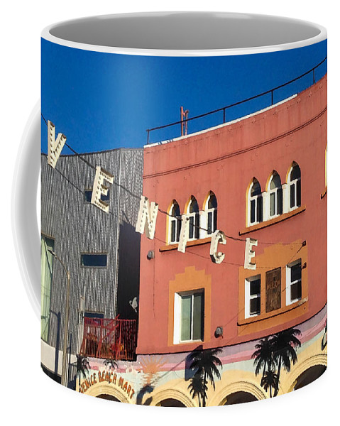 Venice Coffee Mug featuring the photograph Venice Sign by Art Block Collections