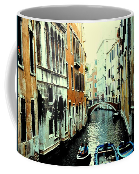 Venice Coffee Mug featuring the photograph Venice Street Scene by Ian MacDonald