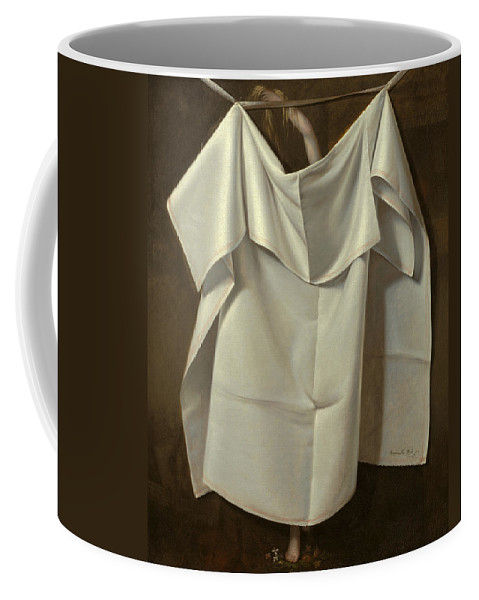 Raphaelle Peale Coffee Mug featuring the painting Venus Rising From The Sea. A Deception by Raphaelle Peale