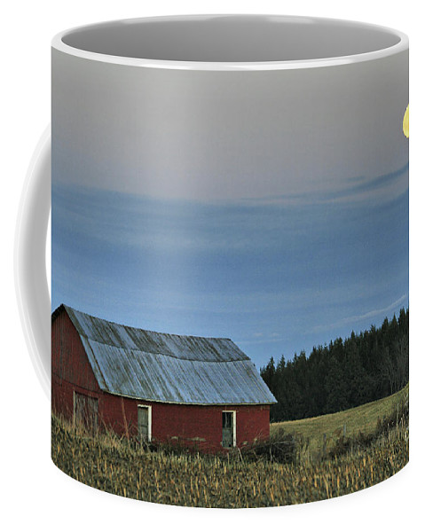 Moon Coffee Mug featuring the photograph Vermont Full Moon by Deborah Benoit