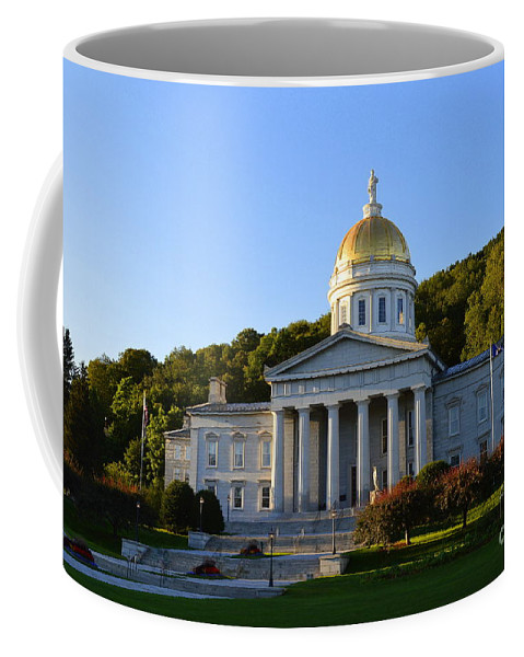 Vermont Coffee Mug featuring the photograph Vermont State House by Catherine Sherman