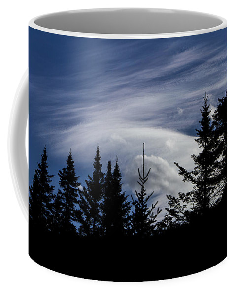 Vermont Coffee Mug featuring the photograph Vermont Tree Silhouette Clouds Cloudscape by Andy Gimino