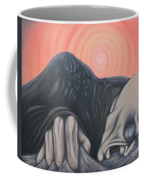 Tmad Coffee Mug featuring the painting Vertigo by Michael TMAD Finney