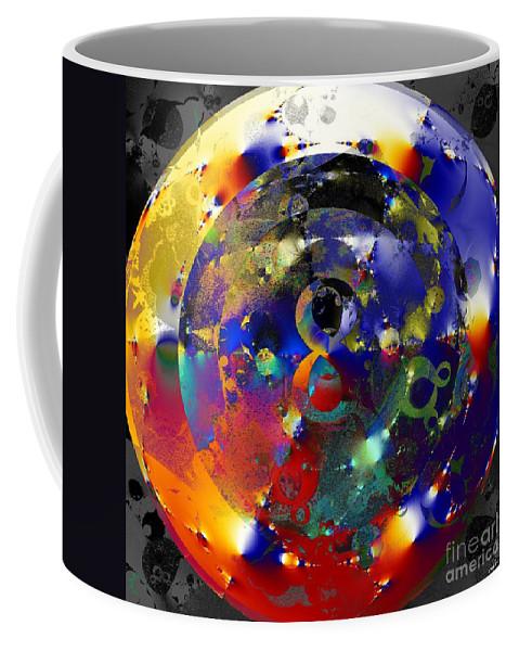 Fractal Art Coffee Mug featuring the digital art Very Doubtful by Elizabeth McTaggart