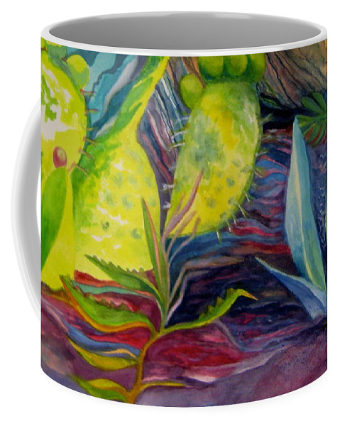 Cinque Terre Coffee Mug featuring the painting Via Dell Amore by Kandy Cross