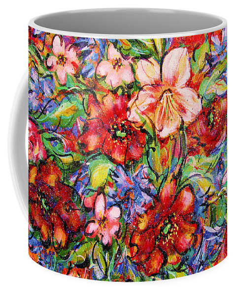 Flowers Coffee Mug featuring the painting Vibrant Blooms by Natalie Holland