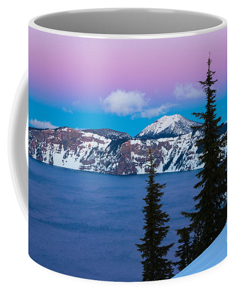 America Coffee Mug featuring the photograph Vibrant Winter Sky by Inge Johnsson