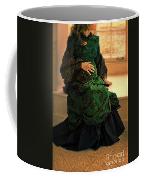 Woman Coffee Mug featuring the photograph Victorian Lady Expecting A Baby by Jill Battaglia