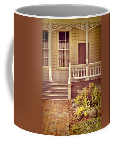 Porch Coffee Mug featuring the photograph Victorian Porch by Jill Battaglia