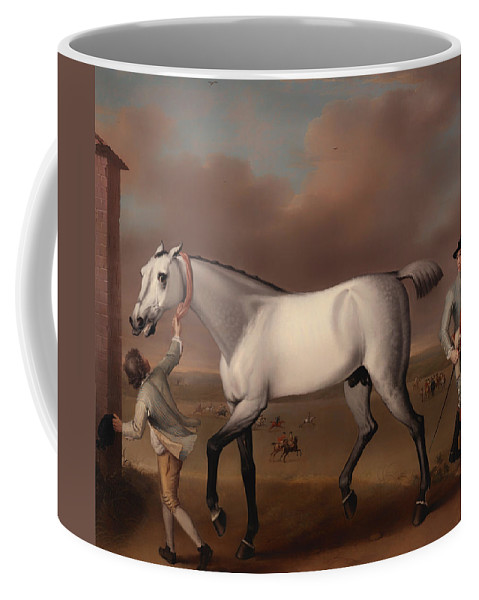Painting Coffee Mug featuring the painting Victorious At Newmarket by Mountain Dreams