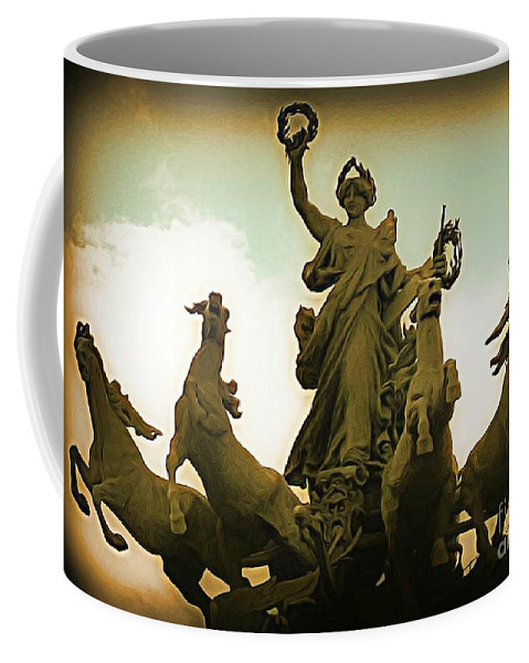 Statues Coffee Mug featuring the photograph Victorious by John Malone