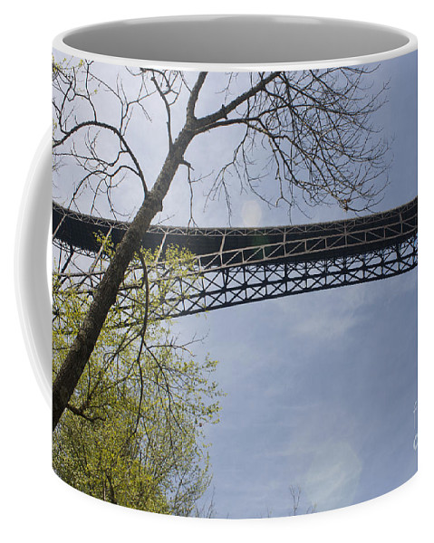 New River Gorge Bridge Coffee Mug featuring the photograph View From Below by Teresa Mucha