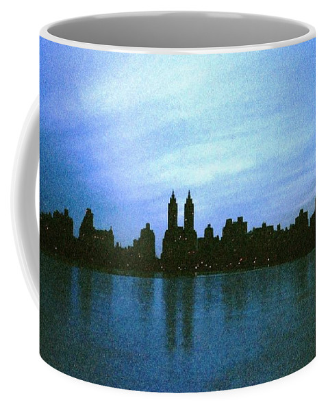 Street Scene Coffee Mug featuring the photograph View From Central Park by Miriam Danar