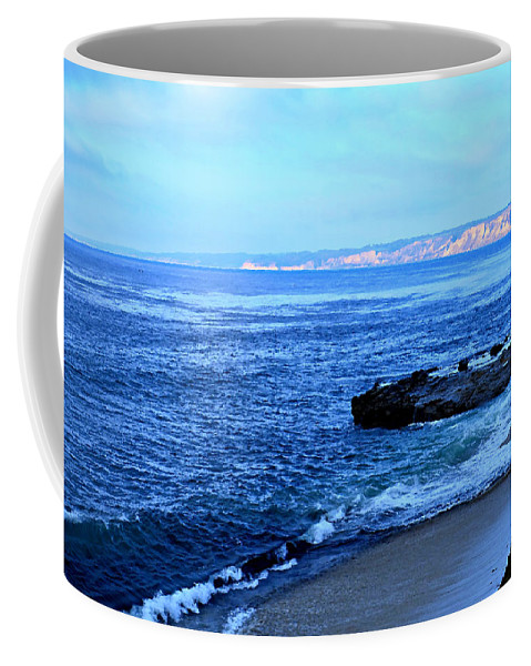 Digital Paint Effect Coffee Mug featuring the photograph View From La Jolla by Sharon Tate Soberon