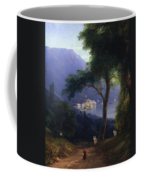 Classic Art With A Change Or Two Coffee Mug featuring the digital art View From Livadia-1861 by Ivan Aivazovsky