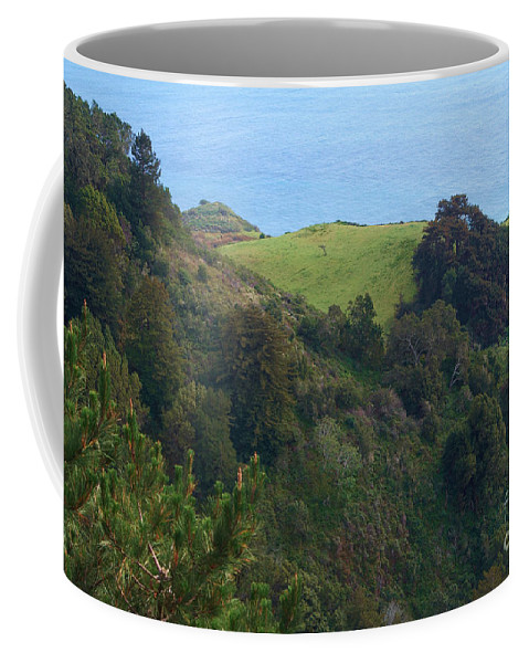 Nepenthe Coffee Mug featuring the photograph View From Nepenthe In Big Sur by Charlene Mitchell