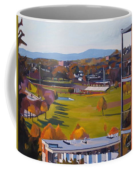 South Boston Coffee Mug featuring the painting View From The Heights by Deb Putnam