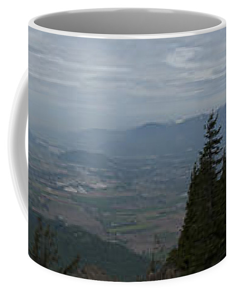 Hiking Coffee Mug featuring the photograph View From The Top by Rod Wiens