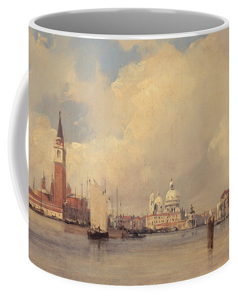 Venice Coffee Mug featuring the painting View In Venice by Richard Parkes Bonington
