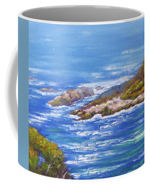 Eden Coffee Mug featuring the painting View Of Eden Australia by Diane Quee