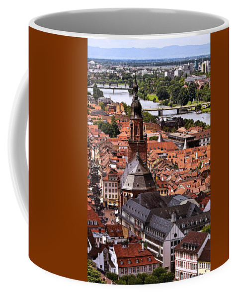 Architecture Coffee Mug featuring the photograph View Of Heidelberg by Marcia Colelli
