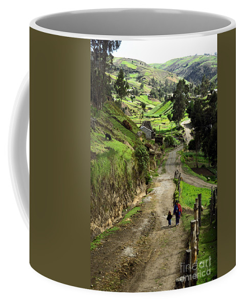 Ecuador Coffee Mug featuring the photograph View Of Lupaxi by Kathy McClure