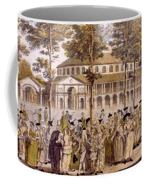Jubilee Coffee Mug featuring the drawing View Of The Jubilee Ball, Ranelagh by English School