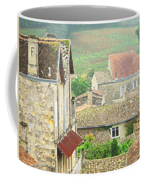 Saint Emilion Coffee Mug featuring the digital art View Over Saint Emilion France 1 by Greg Matchick