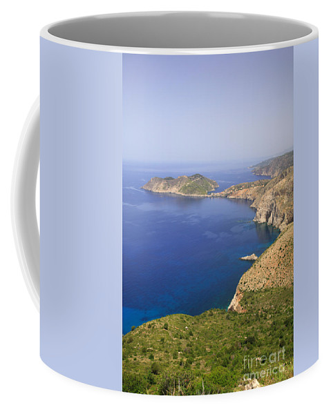 16th Century Coffee Mug featuring the photograph View Over To Assos by Deborah Benbrook