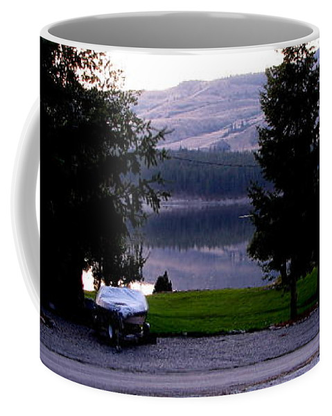 Art For The Wall...patzer Photography Coffee Mug featuring the photograph View To Columbia by Greg Patzer