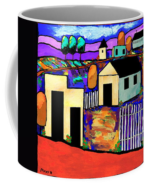 Village Coffee Mug featuring the painting Village In Color by Dale Moses