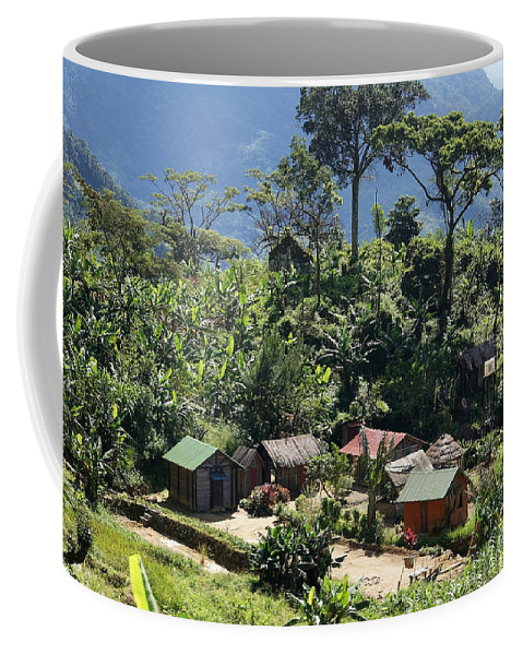 Madagascar Coffee Mug featuring the photograph village in eastern Madagascar by Rudi Prott