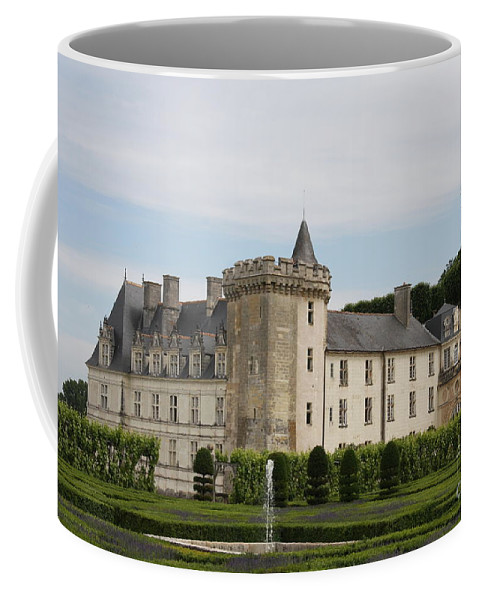 Palace Coffee Mug featuring the photograph Villandry Chateau And Boxwood Garden by Christiane Schulze Art And Photography