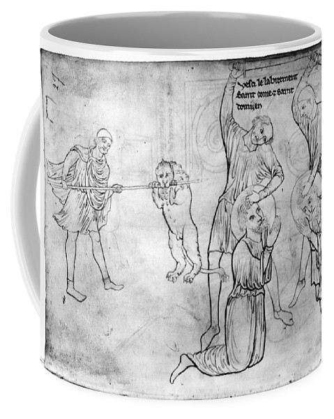 13th Century Coffee Mug featuring the drawing Villard De Honnecourt (c1225-1250) by Granger