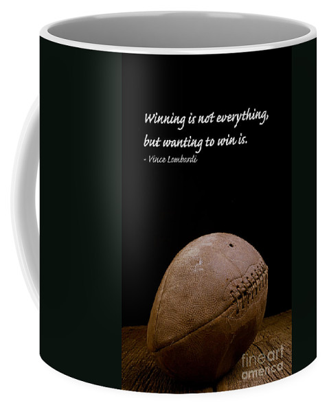 Football Coffee Mug featuring the photograph Vince Lombardi On Winning by Edward Fielding