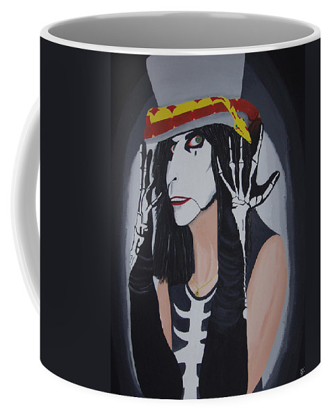 Crazy Coffee Mug featuring the painting Vincent by Dean Stephens