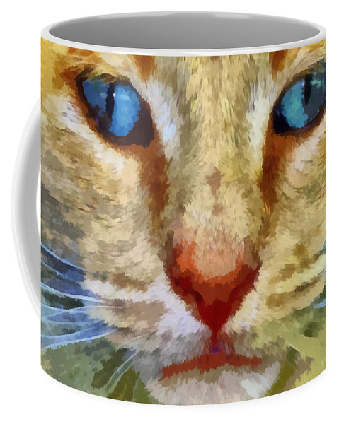Cat Coffee Mug featuring the photograph Vincent by Michelle Calkins